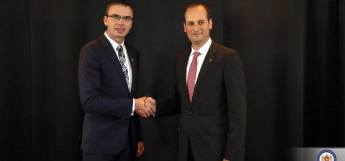 საგარეო საქმეთა მინისტრი ესტონელ კოლეგას შეხვდა