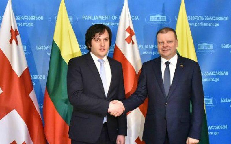 ირაკლი კობახიძე ლიტვის რესპუბლიკის პრემიერ-მინისტრს შეხვდა