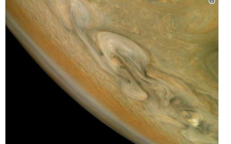 NASA-მ იუპიტერის ჩრდილოეთ პოლუსზე მომხდარი ქარიშხლის ფოტო გამოაქვეყნა