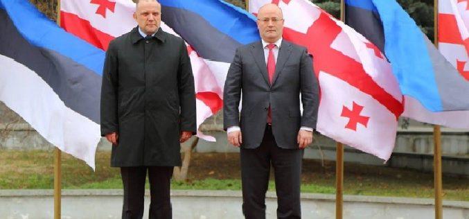 ლევან იზორიამ ესტონეთის თავდაცვის მინისტრს უმასპინძლა
