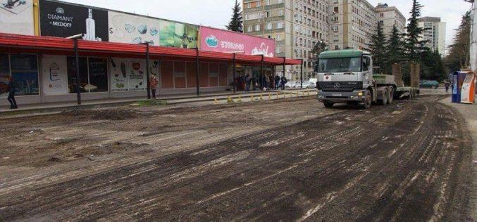 ქუთაისის რამდენიმე ქუჩაზე გზის საფარი განახლდება