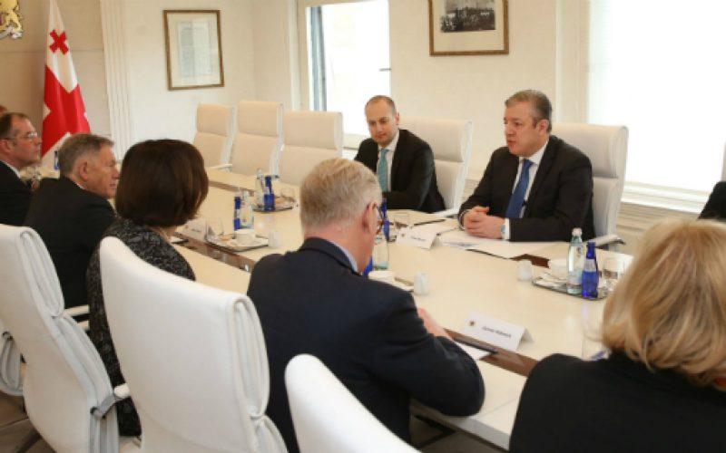 საქართველოს პრემიერ-მინისტრი გიორგი კვირიკაშვილი ევროპარლამენტარებს შეხვდა