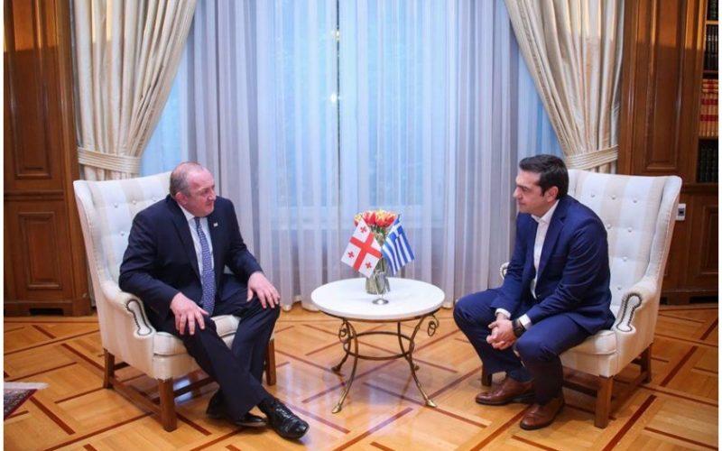 საქართველოს პრეზიდენტი საბერძნეთის პრემიერს შეხვდა