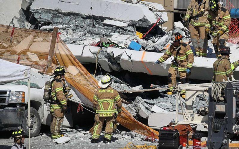 აშშ-ში, ფლორიდის შტატში, მაიამიში ხიდის ჩანგრევის შედეგად, სულ მცირე 4 ადამიანი დაიღუპა(იხ.ფოტოები)