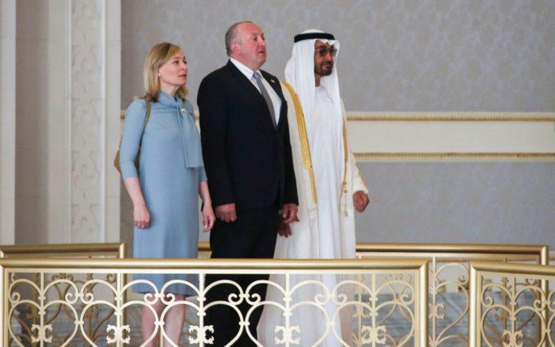 საქართველოს პრეზიდენტი არაბთა გაერთიანებულ საემიროებს ოფიციალური ვიზიტით, პირველ ლედისთან მაკა ჩიჩუასთან ერთად ეწვია