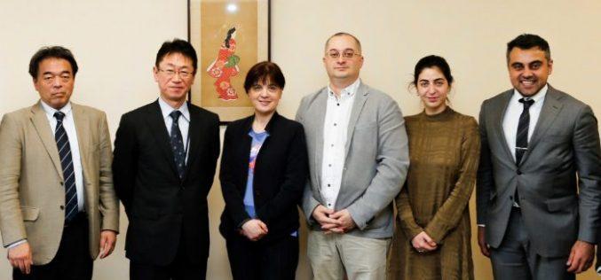 იაპონიაში, სამუშაო ვიზიტის ფარგლებში დავით ტყემალაძე და თინა კეზელი ცნობილი საგამოფენო სივრცის Terrada Warehouse და კომპანიის Sony Music Communications  წარმომადგენლებს შეხვდნენ.
