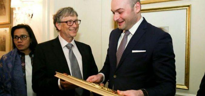 საქართველოს ფინანსთა მინისტრი მამუკა ბახტაძე ვაშინგტონში კომპანია Microsoft-ის დამფუძნებელს, ბილ გეითსს შეხვდა