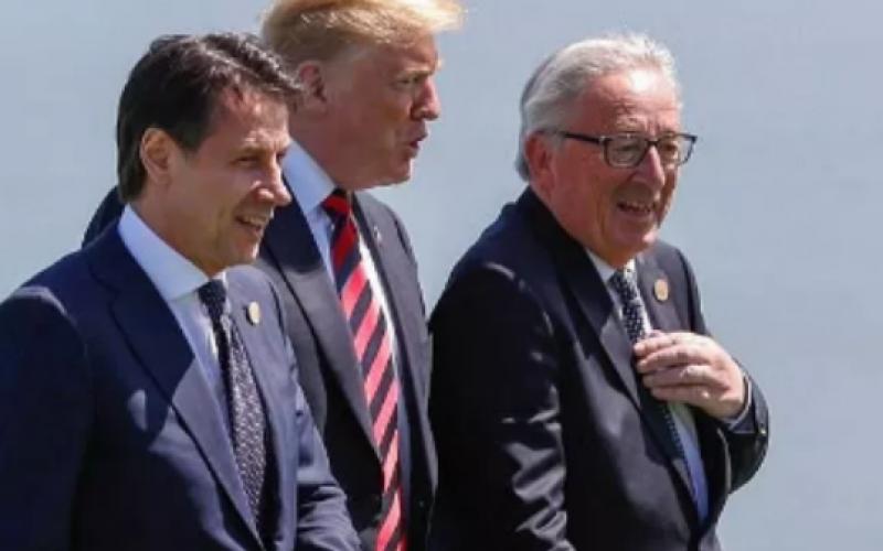 დონალდ ტრამპი მიმდინარე წლის 30 ივლისს, იტალიის პრემიერ-მინისტრ, ჯუზეპე კონტეს თეთრ სახლში უმასპინძლებს