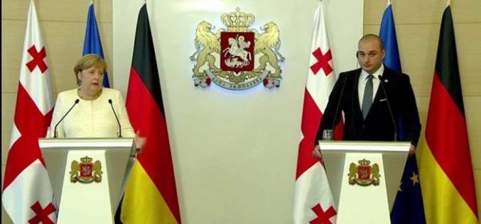 """""""საქართველო გერმანიის ძალიან კარგი პარტნიორია და ორგანიზებულ დანაშაულთან ბრძოლაში ორი ქვეყნის ურთიერთთანამშრომლობა წარმატებულია""""-ანგელა მერკელი"""