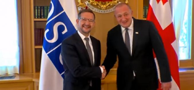 საქართველოს პრეზიდენტმა ეუთოს გენერალური მდივანი ტომას გრემინგერი მიიღო