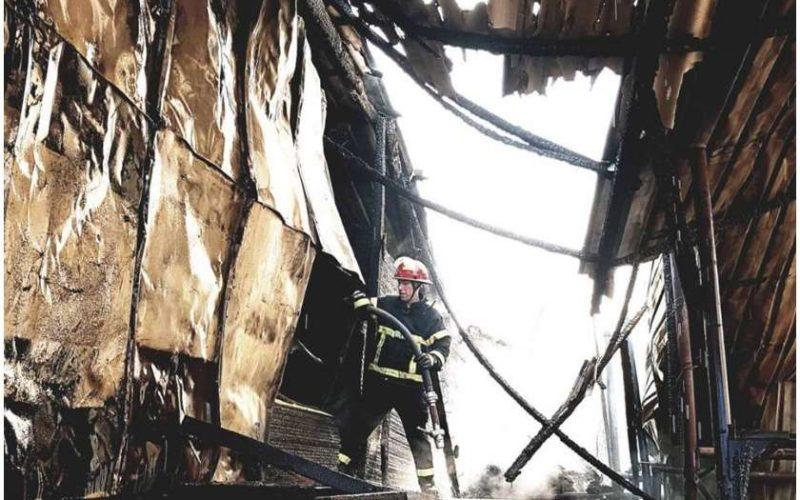 თბილისში, აგლაძის ქუჩაზე ხის მასალების საწყობი დაიწვა