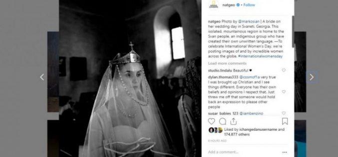 """""""ნეიშენალ ჯეოგრაფიკმა"""" რვა მარტთან დაკავშირებით ქალთა გამორჩეული ფოტოები გამოაქვეყნა, რომელშიც საქართველოში, სვანეთში გადაღებული ფოტოც მოხვდა. ფოტოს ავტორი დიანა მარკოსიანია."""