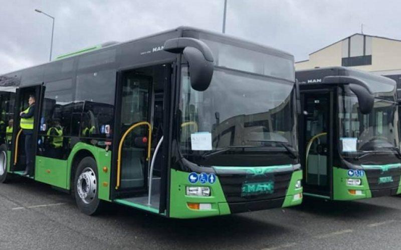 ლესელიძის ქუჩაზე ახალი, მწვანე ავტობუსი იმოძრავებს