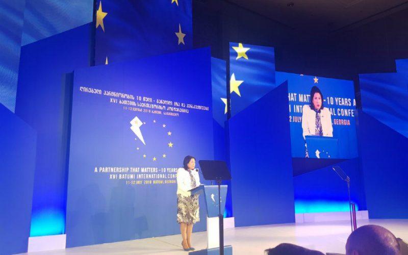 სალომე ზურაბიშვილი: უნდა დავაკაკუნოთ ყველა კარზე და ყველა კარი უნდა გაიხსნას ჩვენ წინაშე, მეტი ევროპული დემოკრატია უნდა დავამყაროთ საქართველოში