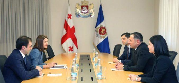 შინაგან საქმეთა მინისტრი ვახტანგ გომელაური სახელმწიფო ინსპექტორს ლონდა თოლორაიას შეხვდა