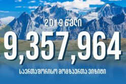2019 წელს საქართველოში საერთაშორისო მოგზაურთა ვიზიტი 7.8%-ით, ხოლო ტურისტული ვიზიტების რაოდენობა 6.8 %-ით გაიზარდა