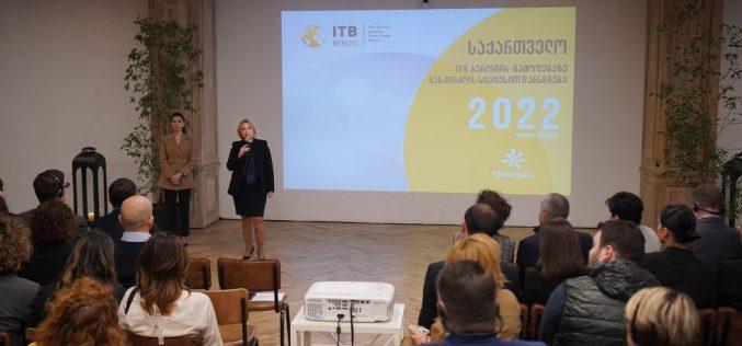 """""""ბერლინში, 2022 წელს, ITB Berlin-ის მასპინძელ ქვეყანად საქართველოს დასახელება ტურიზმის დარგში ჩვენი სწორი პოლიტიკის აღიარებაა""""-ნათია თურნავა"""