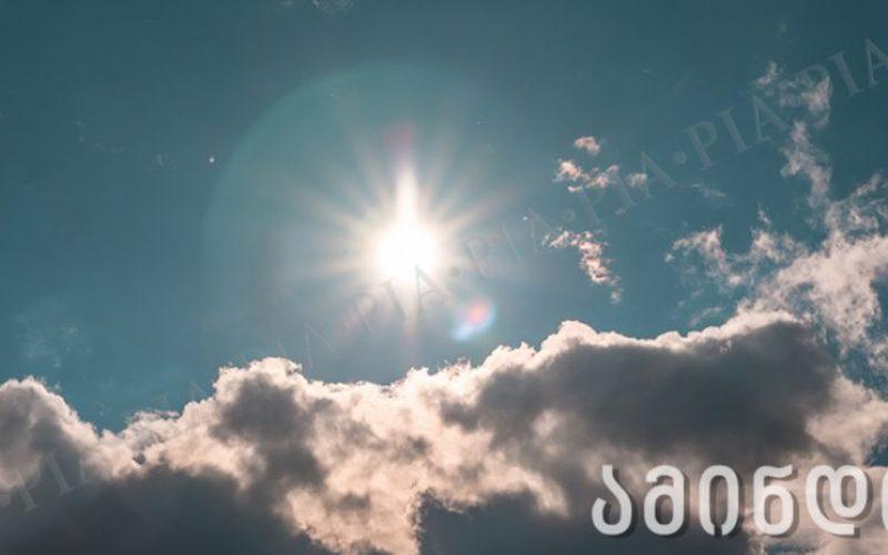 დღეს  საქართველოში მზიანი ამინდია მოსალოდნელი