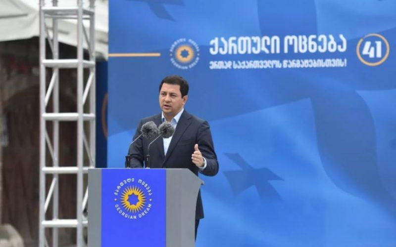 """""""პრემიერ-მინისტრის თაოსნობით, ჩვენი სახელისუფლებლო გუნდი აკეთებს უპრეცედენტოდ დიდ ინვესტიციას მომავალში. მომავალი – დღეს ეს არის """"ქართული ოცნების"""" მთავარი საზრუნავი"""""""