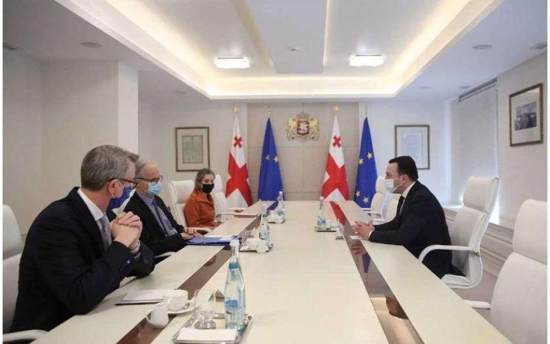 პრემიერ მინისტრი ევროპული საბჭოს პრეზიდენტ – შარლ მიშელის პირად წარმომადგენელ, კრისტიან დანიელსს შეხვდა