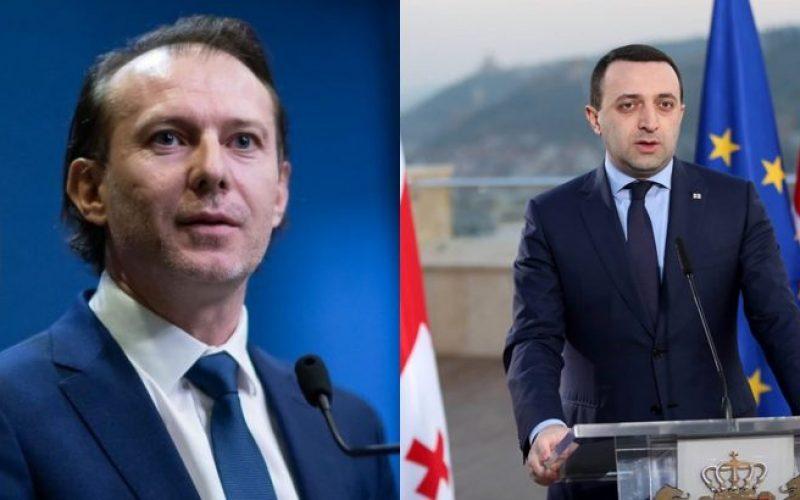 რუმინეთის პრემიერი ირაკლი ღარიბაშვილს საქართველოს პრემიერ-მინისტრის თანამდებობაზე დანიშვნას ულოცავს