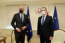 შარლ მიშელმა პრემიერ-მინისტრს ირაკლი ღარიბაშვილს მადლობა გადაუხადა