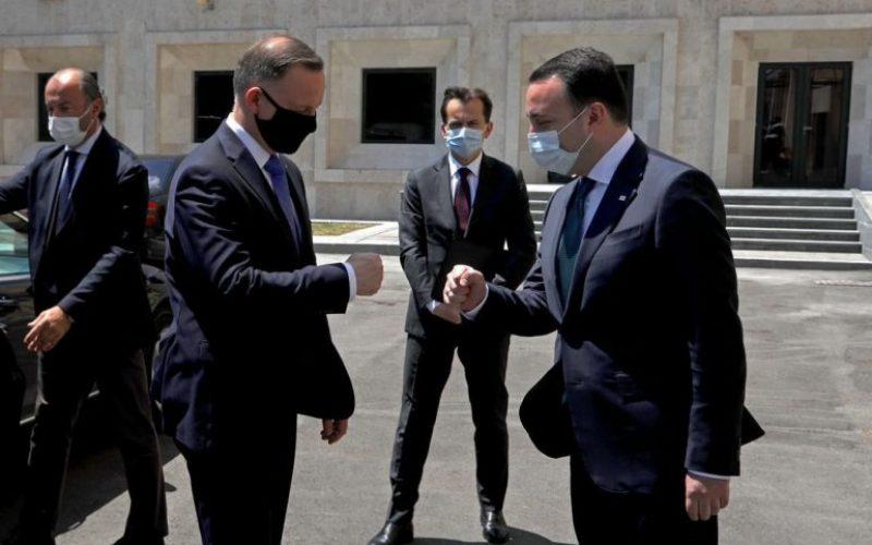 ირაკლი ღარიბაშვილი პოლონეთის რესპუბლიკის პრეზიდენტ ანჯეი დუდას შეხვდა
