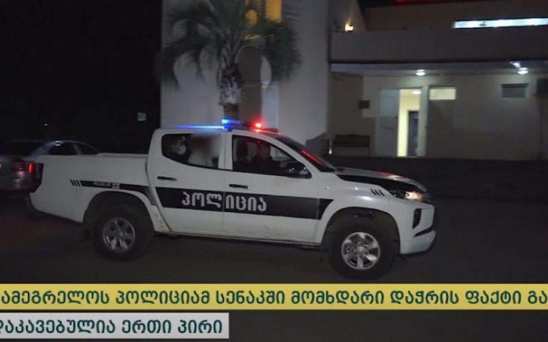 პოლიციამ სენაკში დაჭრის ფაქტზე ერთი პირი დააკავა