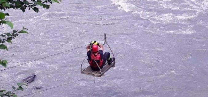 მეხანძრე-მაშველებმა მდინარე ცხენისწყლის ნაპირზე ჩარჩენილი დაშავებული მოქალაქე უსაფრთო ადგილზე გამოიყვანეს