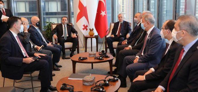 """""""ნაყოფიერი საუბარი შედგა თურქეთის რესპუბლიკის პრეზიდენტ რეჯეფ თაიფ ერდოღანთან ორმხრივი და რეგიონალური თანამშრომლობის საკითხებზე"""""""
